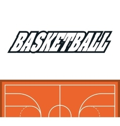 League of Basketball sport design vector image