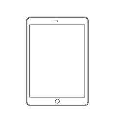 line drawing a tablet device vector image