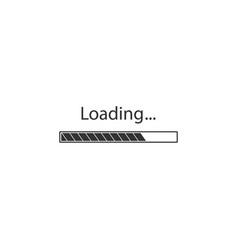 loading icon isolated progress bar icon flat vector image