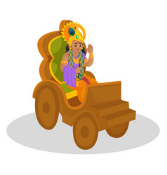 Lord krishna cartoon character vector
