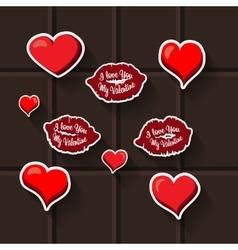 love lips heart sticker vector image