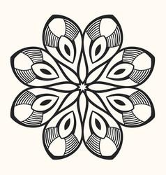 Mandala creative circular ornament vector