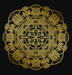 mandala design ethnic round ornament hand drawn vector image