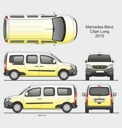 Mercedes citan 2015 l2 combi van vector