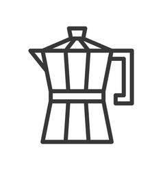 Moka pot coffee related line style editable vector
