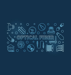 optical fiber concept blue linear vector image