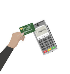 Pay pass use card contactless payment vector