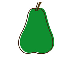 Pear fruit fresh natural food organic vector