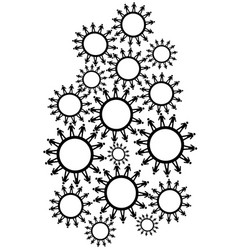 people gears background vector image
