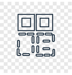 qr code concept linear icon isolated on vector image