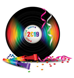 Rainbow vinyl record vector