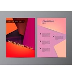 red flyer brochure modern design vector image vector image