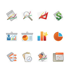 Reports icon set ideal for web and print flyers vector