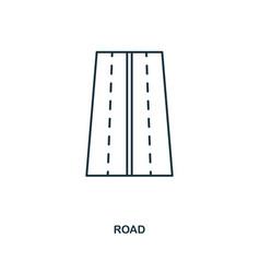 road icon outline style icon design ui vector image