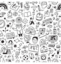 School education - seamless background vector