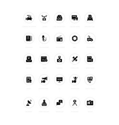 set simple icons news vector image