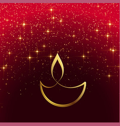 shiny diwali design with sparkles vector image