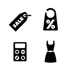 Shopping sale discount simple related icons vector