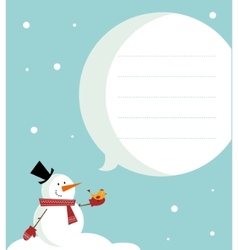 snow man card vector image