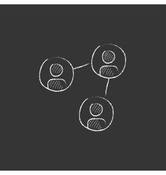 Social network Drawn in chalk icon vector