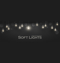soft light garlands collection transparent vector image
