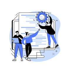 software development team abstract concept vector image