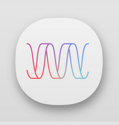 Sound wave app icon uiux user interface wavy vector