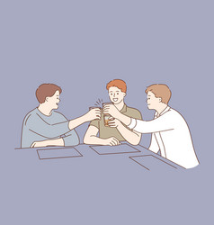 spending time and having fun in bar concept vector image