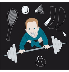 Sports kid vector image vector image