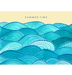 summer time card on yellow background vector image