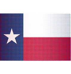 texas state doted flag vector image