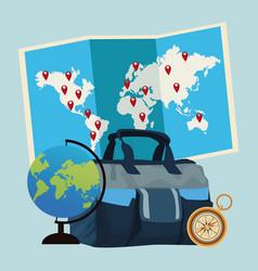 Travel around the world vector