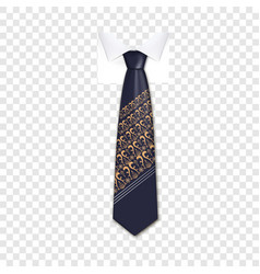 trend tie icon realistic style vector image