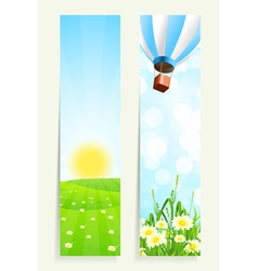 Two Vertical Banners vector image
