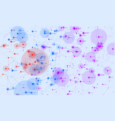 Violet abstract 3d big data visualization vector