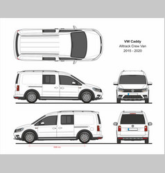 vw caddy alltrack maxi crew 2015-present vector image