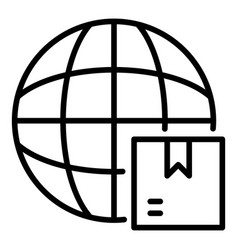 World export icon outline style vector