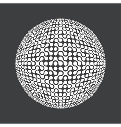 abstract circle composition vector image