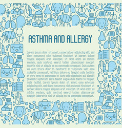 asthma and allergy concept for web page vector image vector image