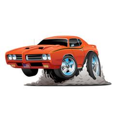 classic american muscle car cartoon vector image vector image