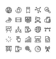 Digital Marketing Icons 2 vector image