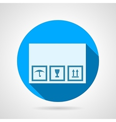 Flat icon for delivery box vector image
