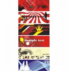 urban banners vector image