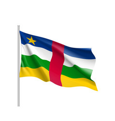 central african republic realistic flag vector image vector image