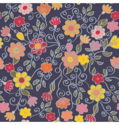 flowers dark vector image vector image