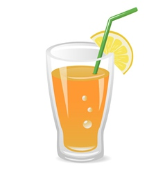 glass of fruit juice vector image vector image