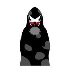 grim reaper cat death with cats head pet in hood vector image vector image