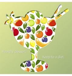 healthy dessert vector image vector image