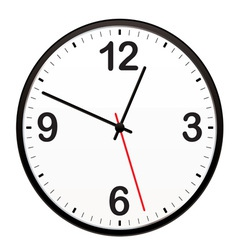 illustrated clock vector image vector image