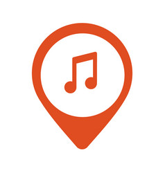 music icon location vector image vector image